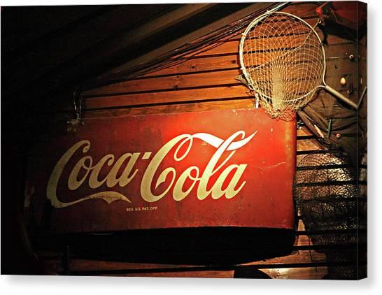 Vintage Coke-cola Sign Canvas Print by Linda Phelps