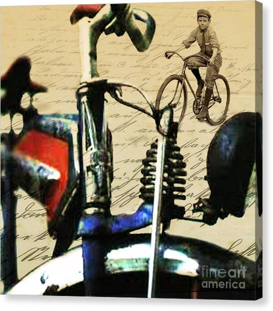 Classic Cycle Canvas Print - Vintage Cruiser by Sassan Filsoof