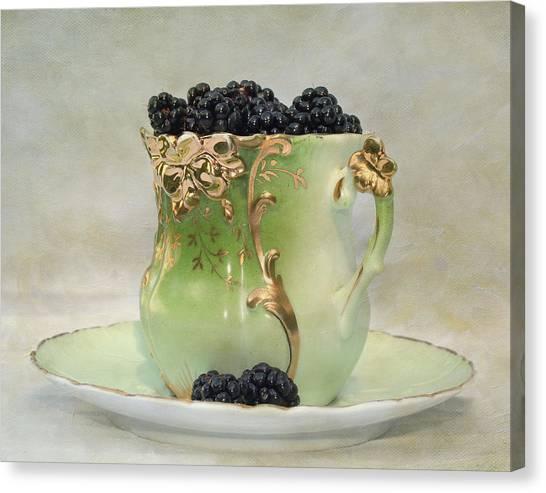 Vintage Cup O Berries Canvas Print