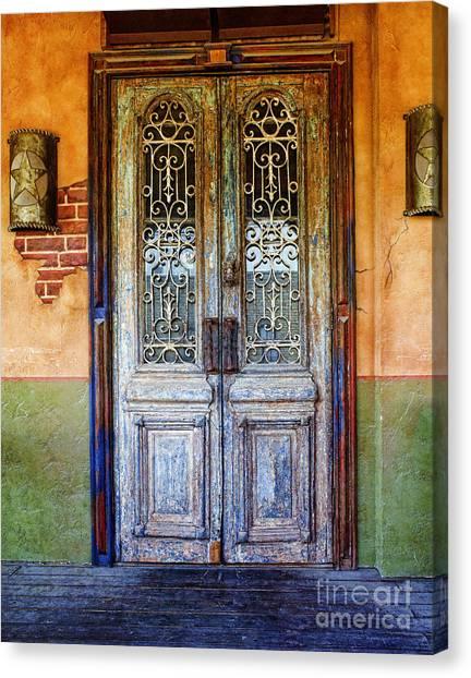 vintage door in Hico TX Canvas Print