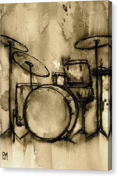 Percussion Instruments Canvas Print - Vintage Drums by Pete Maier