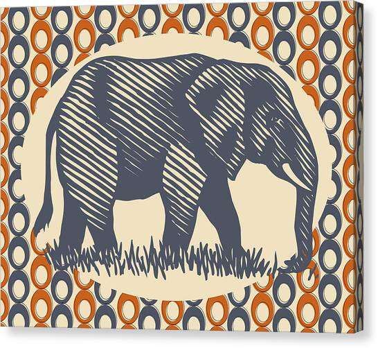 Elephants Canvas Print - Gray Elephant by Flo Karp