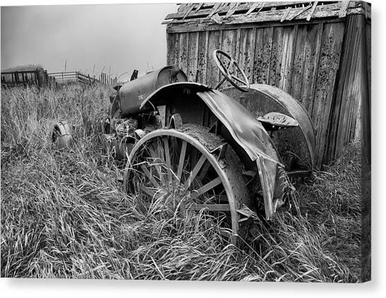 John Deere Canvas Print - Vintage Farm Tractor by Theresa Tahara