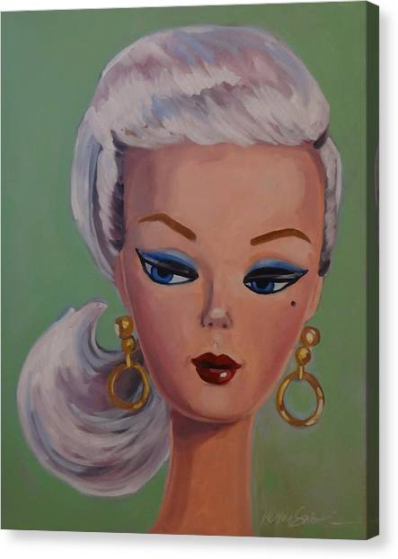Vintage Fashion Doll Series  Canvas Print by Kelley Smith