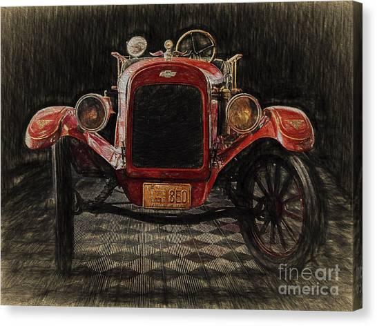 Vintage Fire Truck  ... Canvas Print