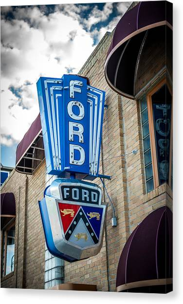 Vintage Ford Sign Canvas Print