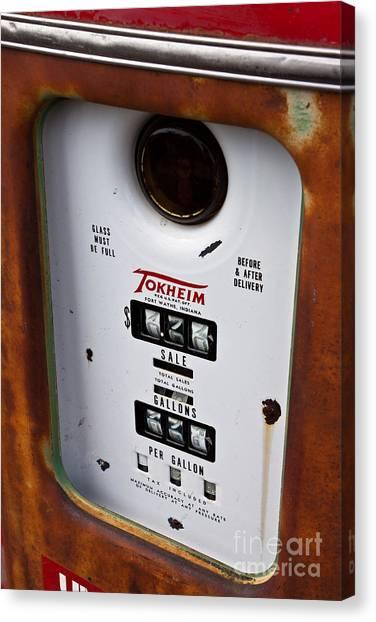 Vintage Fuel Pump Canvas Print