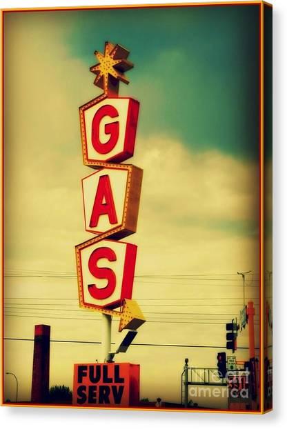 Vintage Gas Sign Canvas Print