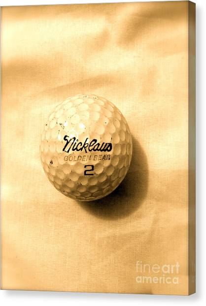 Jack Nicklaus Canvas Print - Vintage Golf Ball by Anita Lewis