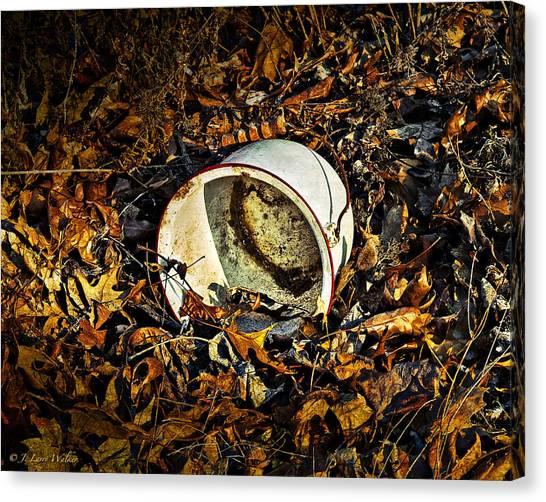 Chamber Pot Canvas Print - Vintage Granite Chamber Pot by J Larry Walker