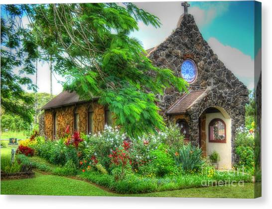 Vintage Hawaiian Church Canvas Print