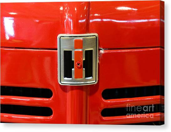 Ward Canvas Print - Vintage International Harvester Tractor Badge by Paul Ward
