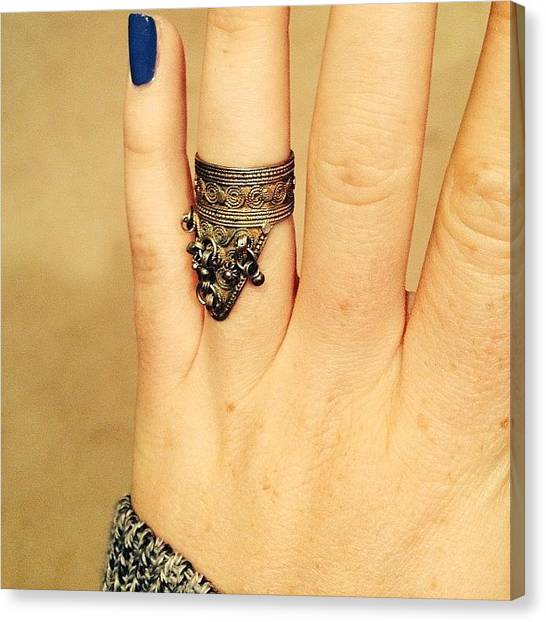 Israeli Canvas Print - Vintage Israeli Knuckle Ring From The by Jordan Stern