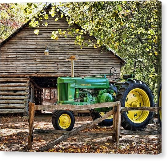 John Deere Canvas Print - Vintage by Kenny Francis