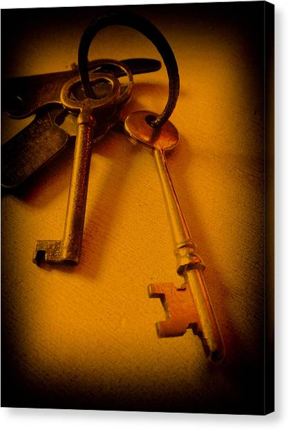 Vintage Keys Deep Antiqued Vignette Canvas Print