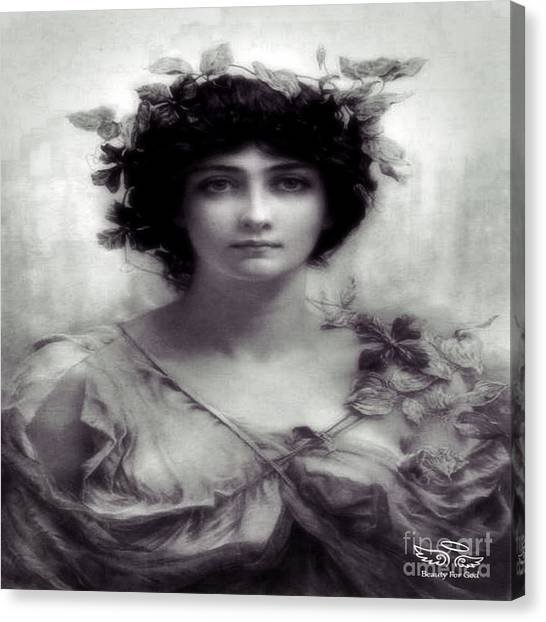 Vintage Lady Canvas Print