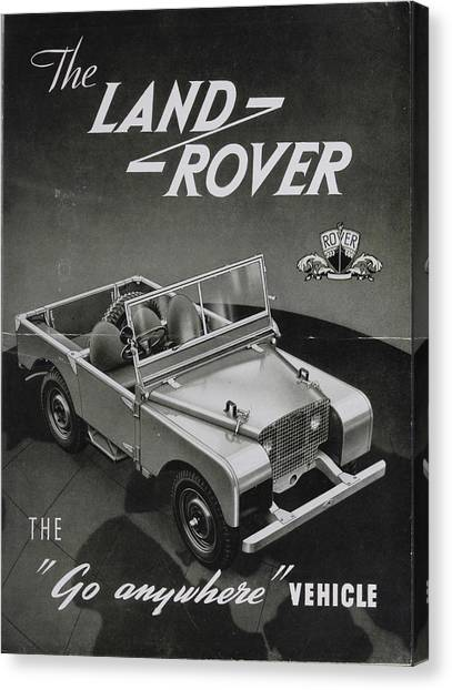 4x4 Canvas Print - Vintage Land Rover Advert by Georgia Fowler