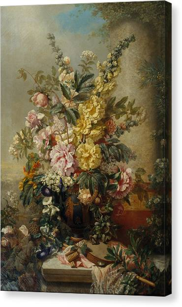 Vintage Large Vase With Flowers C Mid 1880s Painting By Sheila Savage