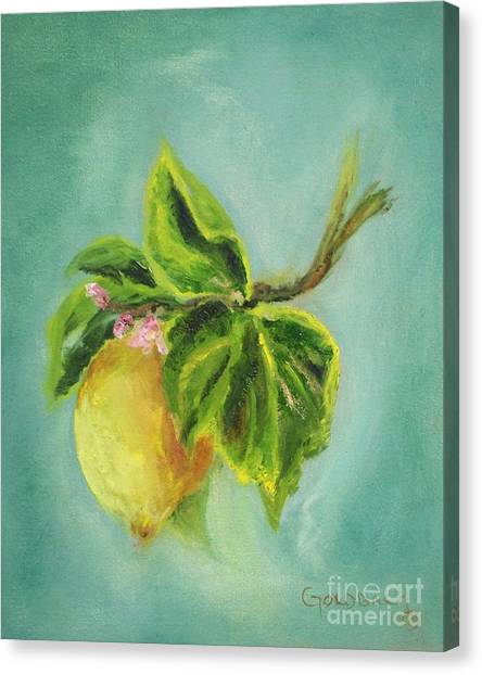 Vintage Lemon II Canvas Print