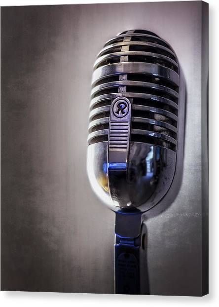 Jazz Canvas Print - Vintage Microphone 2 by Scott Norris