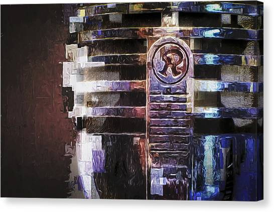 Microphones Canvas Print - Vintage Microphone Painted by Scott Norris