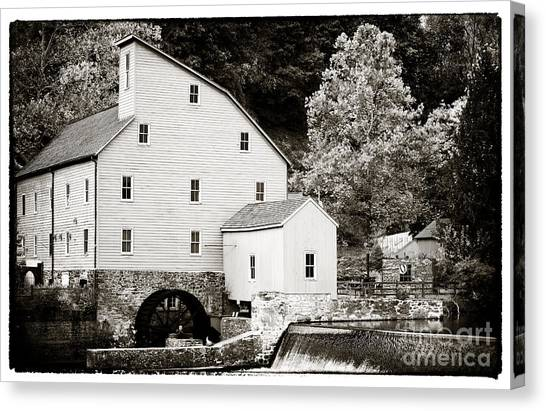 Vintage Mill Canvas Print by John Rizzuto