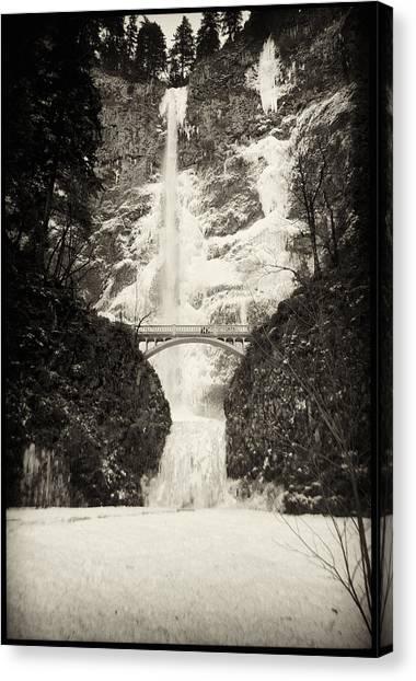 Vintage Multnomah Falls Canvas Print