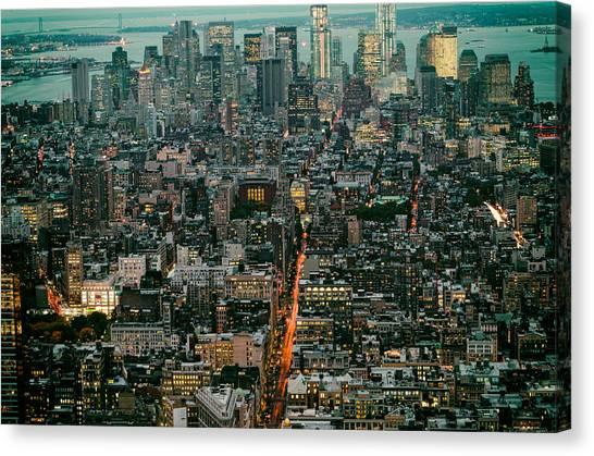 Vintage New York Skyline Canvas Print