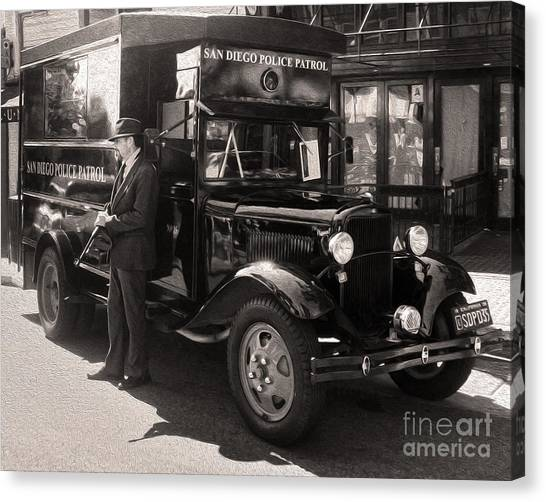 Vintage Paddy Wagon Canvas Print