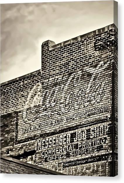 Vintage Painted Signage On Building Canvas Print