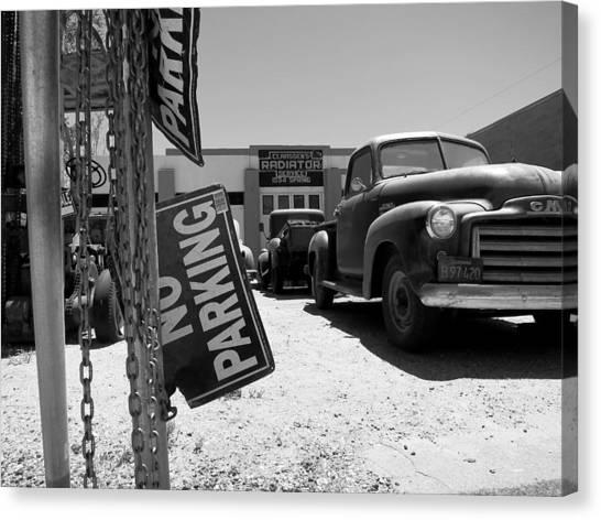 Vintage Parking Canvas Print