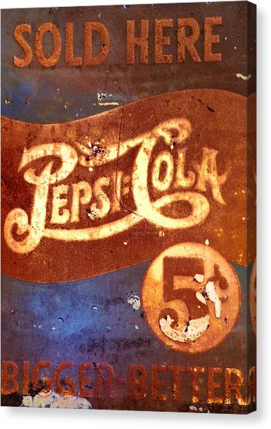Pepsi Canvas Print - Vintage Pepsi by Bill Cannon
