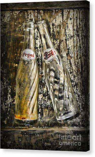 Pepsi Canvas Print - Vintage Pepsi Bottles by Paul Ward