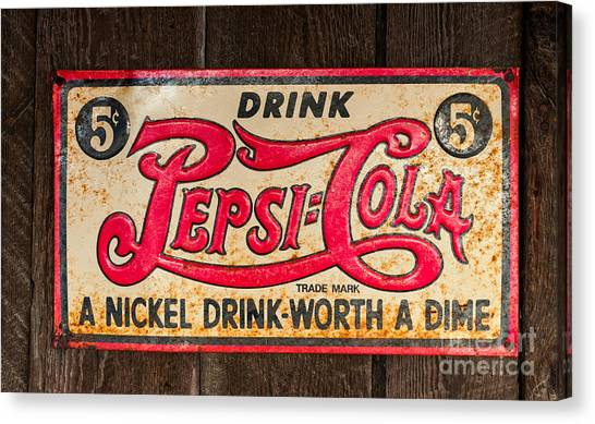 Vintage Pepsi Cola Ad Canvas Print