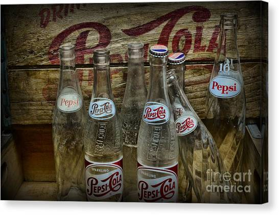 Pepsi Canvas Print - Vintage Pepsi Crate And Bottles by Paul Ward