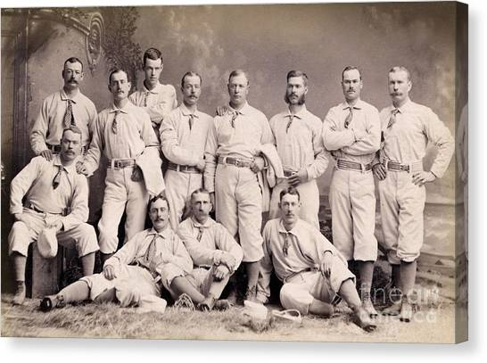 New York Mets Canvas Print - New York Metropolitans Baseball Team Of 1882 by Jon Neidert