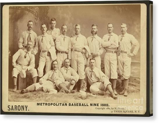 Vintage Photo Of Metropolitan Baseball Nine Team In 1882 Canvas Print