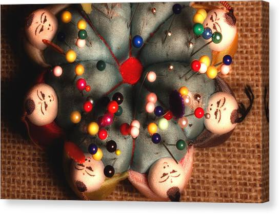 Pin Cushion Canvas Print - Vintage Pin Cushion by Michael Eingle