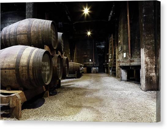 Vintage Porto Wine Cellar Canvas Print