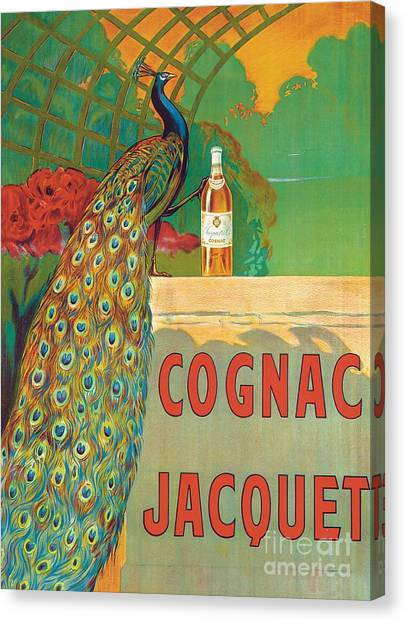 Cognac Canvas Print - Vintage Poster Advertising Cognac by Camille Bouchet