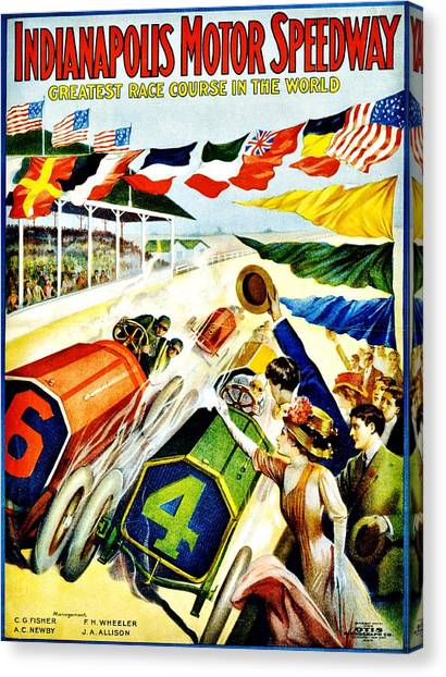 Vintage Poster - Sports - Indy 500 Canvas Print