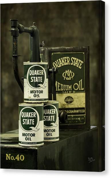 Vintage Quaker State Motor Oil Canvas Print