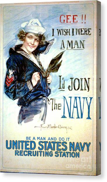 Vintage Recruiting Poster 1917 Canvas Print by Padre Art