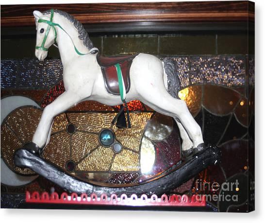 Vintage Rocking Horse Canvas Print
