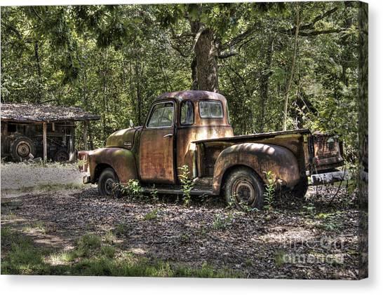 Vintage Rust Canvas Print