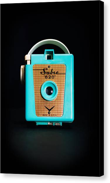 Retro Canvas Print - Vintage Sabre 620 Camera by Jon Woodhams