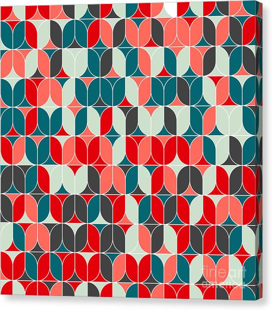 Vintage Seamless Geometrical Colorful Canvas Print by Svetlana Lukoyanova
