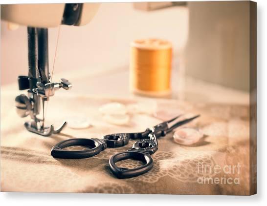 Designing Canvas Print - Vintage Sewing Machine by Amanda Elwell