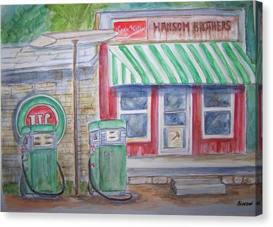 Vintage Sinclair Gas Station Canvas Print