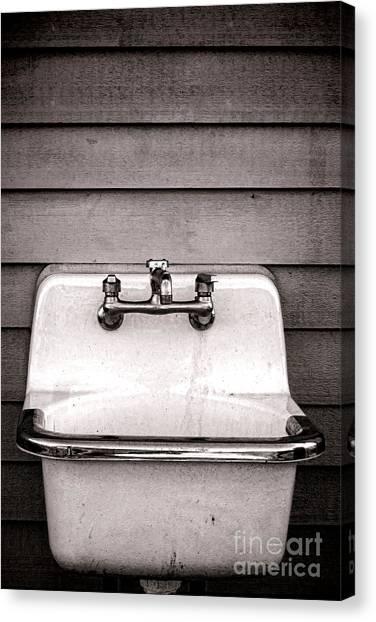 Utility Canvas Print - Vintage Sink by Olivier Le Queinec